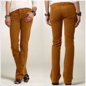 J. Crew mustard brown boot cut corduroy jeans 25S